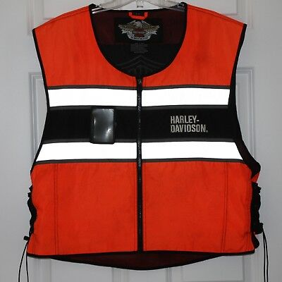 Mens HARLEY-DAVIDSON HI-VIS Orange Riding Vest ~ XL-3XL