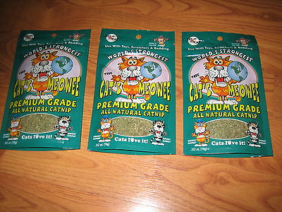 World's Strongest The Cat's Meowee All Natural Catnip Premium Grade .352  3-Pack