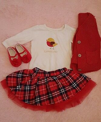 Baby girls christmas outfit 6-9 Months