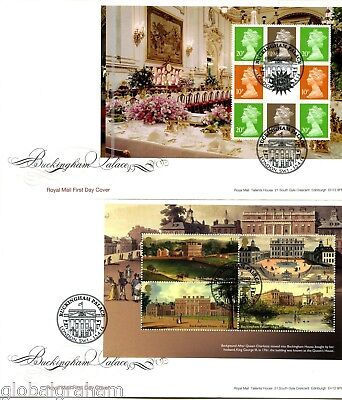 2014 BUCKINGHAM PALACE GREAT BRITAIN ROYAL MAIL PRESTIGE BOOKLET PANES FDCx4 VGC