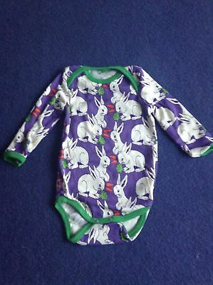 NEU Smafolk Baby Top Gr. 68 cm  %100 Baumwolle Carrots and Rabbits