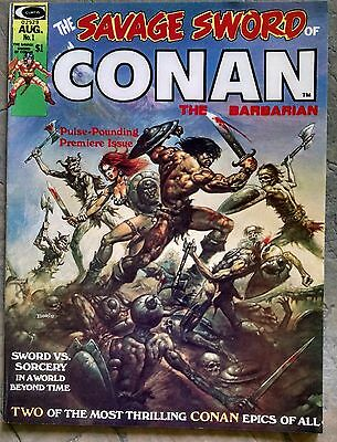 The Savage Sword of Conan 1 (VF) and Annual 1 (F)
