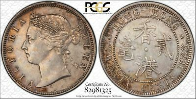 Hong Kong 1888 Silver 20 Cents - Graded PCGS XF Details