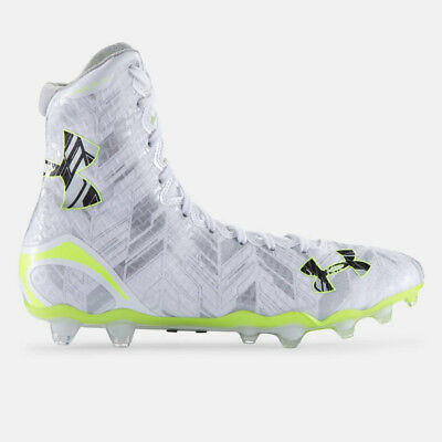 NEW Mens Under Armour Highlight MC Lacrosse Cleats White / Silver Size 8 M