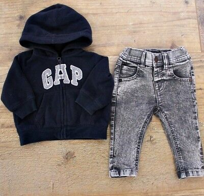 Gap Next Baby Boys Small Bundle Outfit Grey Skinny Jeans Navy Soft Jacket 3-6 M