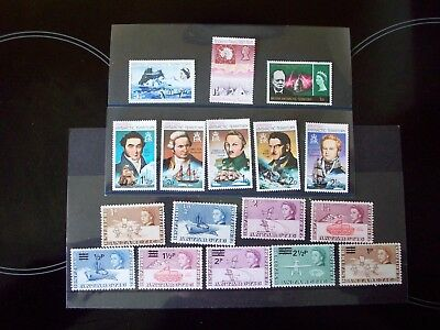 17 British Antarctic Territory Stamps   1963--1973