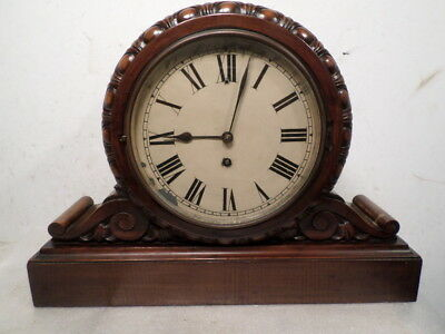 Lenzkirch 1880 Bracket Clock With Carvings