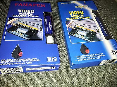 2 VHS VCR Cassette Tape Video Recorder Head Cleaner System Wet & Dry