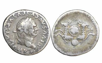 Divus Vespasian Denarius Consecration issue struck under Titus: Rome 81 AD.