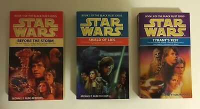 Star Wars novels - The Black Fleet Crisis Trilogy - paperback books