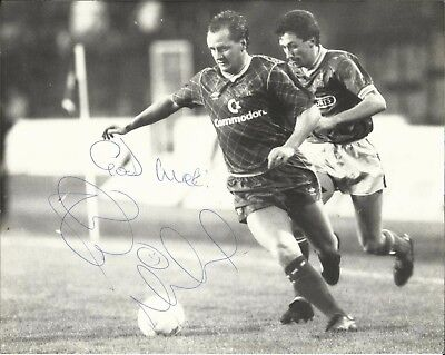 PETER NICHOLAS (Chelsea & Wales), b/w press photograph, ORIGINALLY SIGNED!