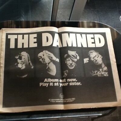 The Damned First Record Advert Nme Plus Other Punk Adverts