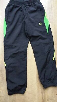 "Boys Adidas tracksuit  bottoms, 24"" waist, age 9 years."
