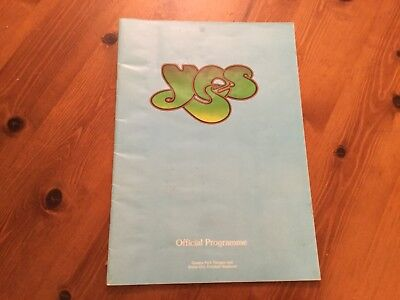 YES Official Tour Programme 1975