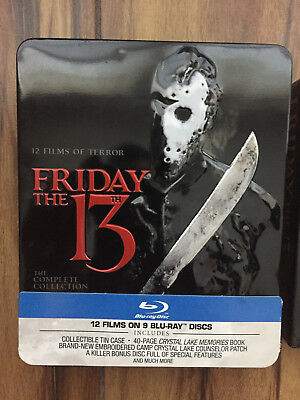 Friday the 13th the complete collection blu ray 2013 10 disc set rare oop