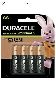 4x NEW DURACELL AA RECHARGEABLE BATTERIES 2500mAh LR6 1.2V NiMH DC1500 MN1500+