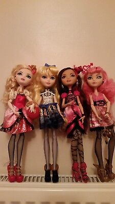 *Ever After High Bundle Of 4 Dolls Mint Unplayed with condition