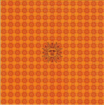 ORANGE SUNSHINE - BLOTTER ART Perforated Sheet acid free paper LSD art