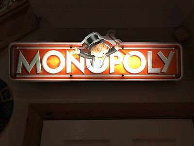 Monopoly casino/amusement lit-up sign mains supply one off as can't buy in shops