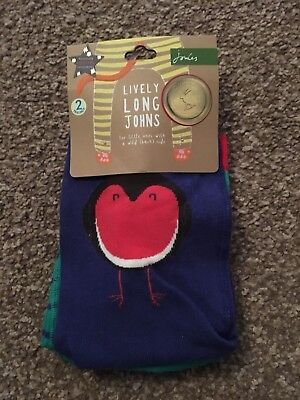BNWT Joules Baby Lively Leggings Long Johns Tights Christmas 0-6 Months