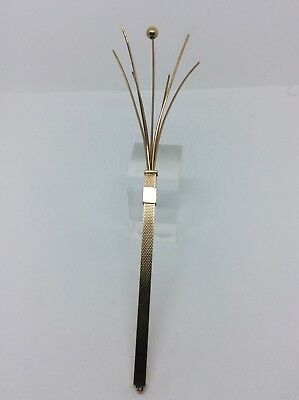 1969 9ct Gold Engine Turned Cohen & Charles Cocktail Swizzle Stick 6.5 Grams