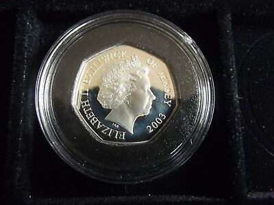 2003 Proof Sterling Silver Jersey Coronation Ceremony 50p with COA