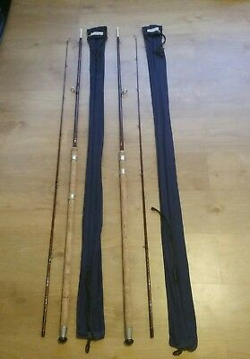 Pair Of Bruce & Walker MK IV G Compound Taper Hand Built Fishing Rods