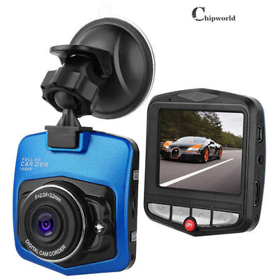 1080P Night Vision Car Video Recorder Camera Vehicle Dash Cam DVR G-Sensor Blue