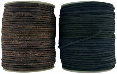 BLACK OR BROWN 3 mm ROUND LEATHER CORD 2-5 METRE LENGTHS