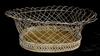 Antique French Brass Wire Basket