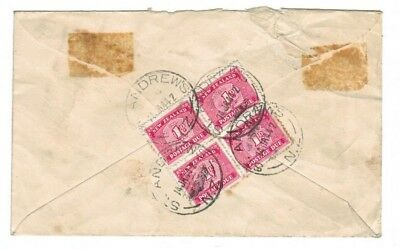Nice New Zealand 1940 Postage Due Cover St Andrews Postmark on Block Four Dues