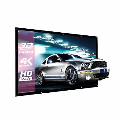 200 Inch Large Projector Screen 16:9 3D Portable Movie Screen Folding Project...