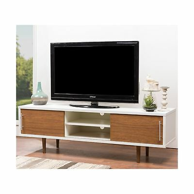 Baxton Studio Gemini Wood Contemporary TV Stand White