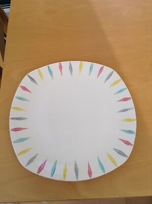 Midwinter Jessie Tait Pastel Cherokee Fashion Shape Dinner Plate 1960s Rare