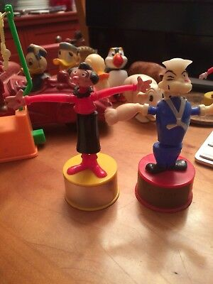 Set Of Popeye And Olive Oil Push Button Toys