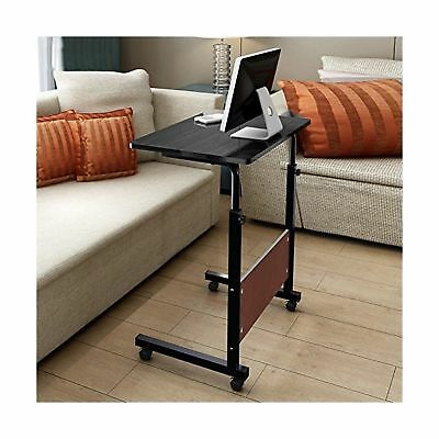 """Soges Adjustable Table 31.4"""" Portable Laptop Computer Stand Desk Cart Tray Bl..."""