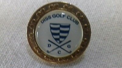 Diss Golf Club Ball Marker