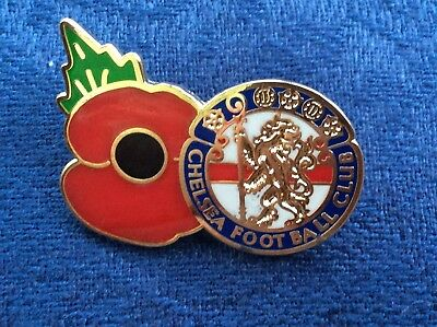 Chelsea Poppy badge blue, white and red