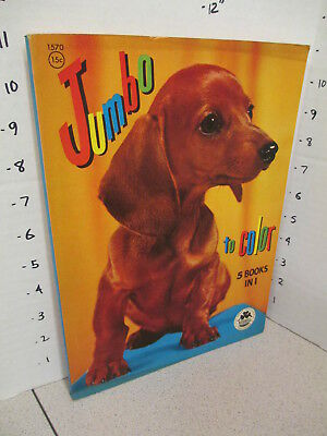 JUMBO 1955 weiner dog Dachshund Merrill coloring book unused