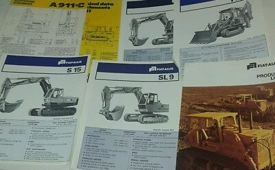 Small job lot of old Liebherr and Fiat-Allis excavators and dozers brochures etc