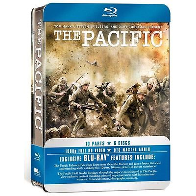 The Pacific HBO (Blu-ray Disc, 2010, 6-Disc Set) Factory Sealed Tin Packaging