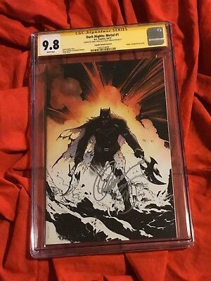 Cgc Ss 9.8~Dark Nights Metal #1~Fade Sketch Variant~Signed Capullo+Snyder~X