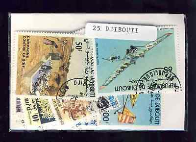 Djibouti 25 timbres différents