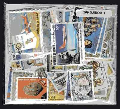 Djibouti 200 timbres différents