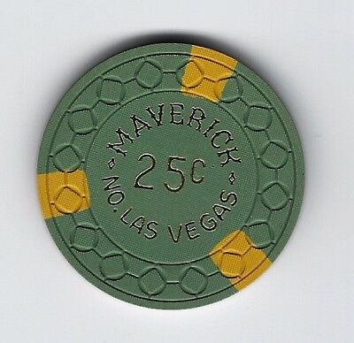 Maverick Casino Las Vegas $0.25 chip N7592 square in circle mold