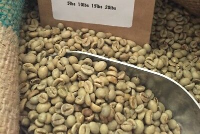5# Indonesia Unroasted Green Coffee Beans.  Natural Process.  Ap-1 Gr-1.