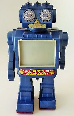 Super Space Commander Video Robot Plastic Battery Operated Toy Japan Horikawa