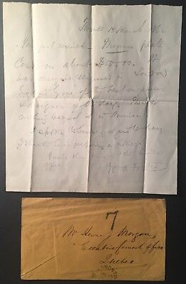 WILLIAM A. FOSTER CO-FOUNDER CANADA FIRST MOVEMENT, ALs IN PENCIL, TORONTO 1862