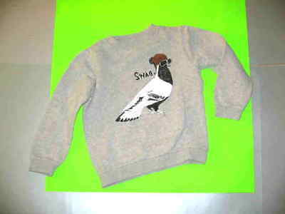 Emile Et Ida Grey L/s Sweatshirt With Bird In Hat And Glasses On Front. Sz. 4A