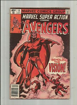 Marvel Super Action #18 Reprints Avengers #57 4.0-5.0 Free Comb Shipping